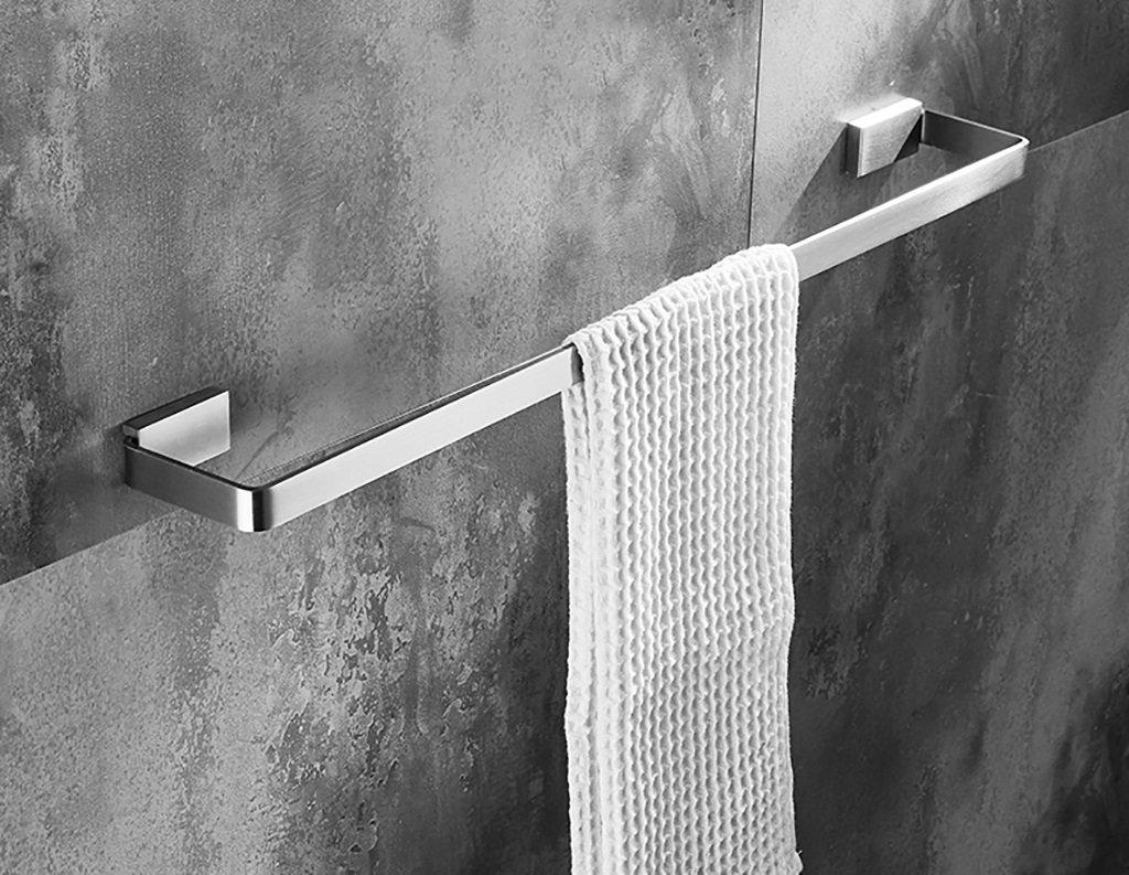 タオルラック/バスルームシングルタオルラック(304ステンレス)ウォールマウントバスルームタオルラックシンプルスタイル タオル棚壁取り付け (サイズ さいず : 800mm) B07D6RY8XT800mm
