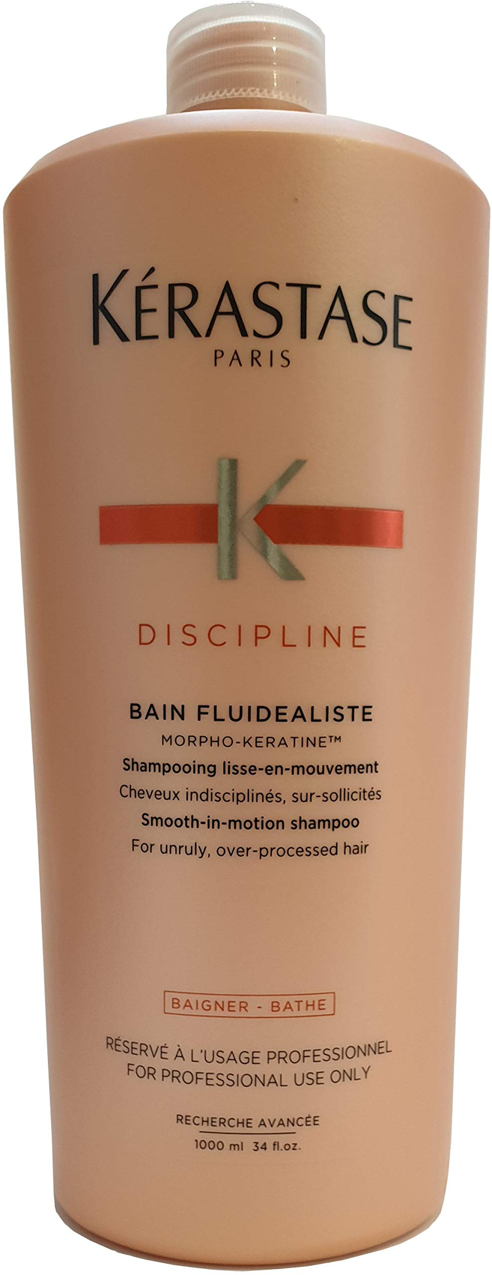 Kerastase Discipline Bain Fluidealiste No Sulfate Smooth-in-Motion Shampoo, 34 Ounce by KERASTASE