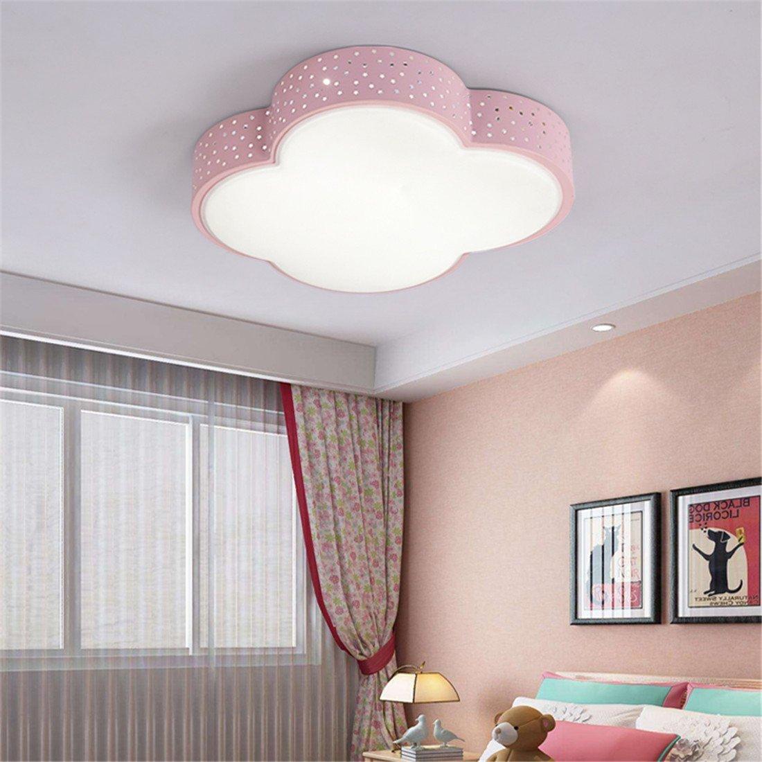 AWAMA Kinderzimmerlampe Kinder Babylampe Kinderlampe Deckenlampe Moderne LED Deckenleuchte Kreative Beleuchtung Wolken Jungen Und Mädchen Zimmer Lampe Schlafzimmer Lichter D53 * W49 * H8CM Blau Dimmbare