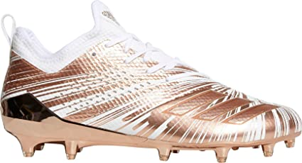 52f9490ac2e adidas Men s Adizero 5-Star 7.0 Metallic Football Cleats (White Rose Gold