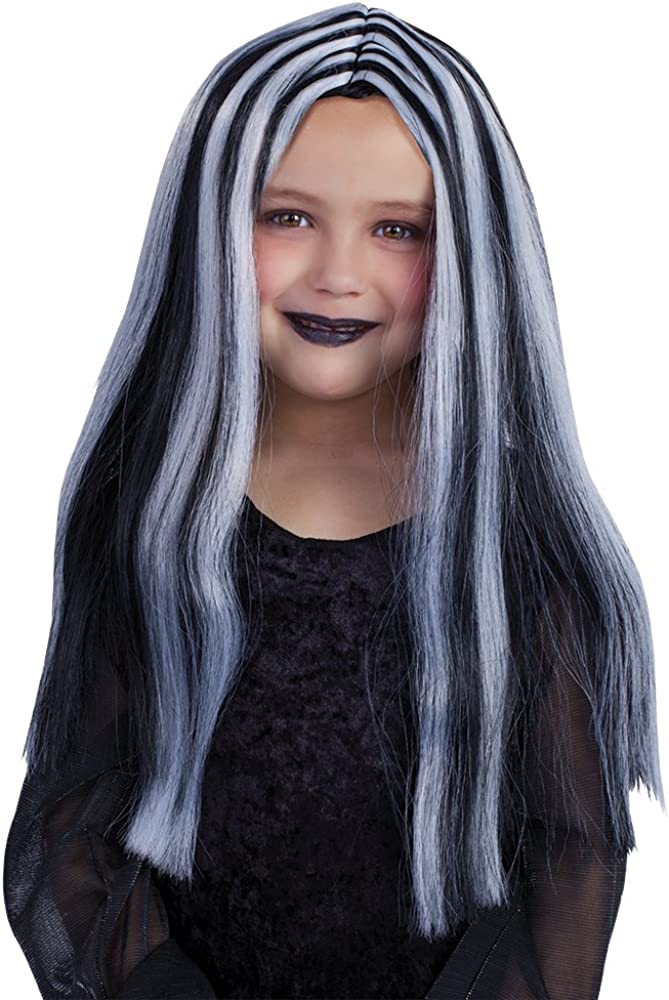 Rubies Spain S1511 Haunted House/ Black and White /Streaked Witch Wig