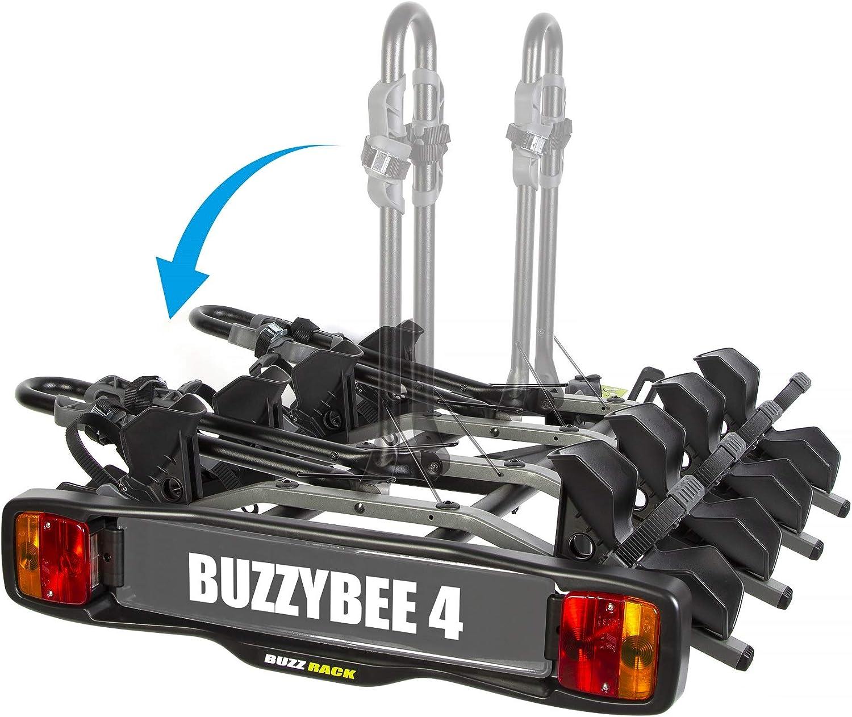 BUZZRACK New Buzzy Bee 4 Porte-v/élo sur attelage Plateforme 4 v/élos