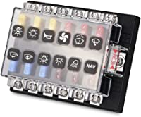 amazon best sellers best automotive replacement fuse boxes small car fuse box waterwich 12 way blade fuse box standard circuit fuse holder box block dc 12