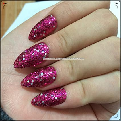 ecbasket 24 x mágico bruja Talon uñas negro con purpurina ...