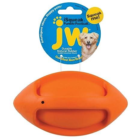 JW JW40028 Juguete Isqueak Funble Football Medium, Pequeño Balón ...