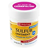 De La Cruz 10% Sulfur Ointment Acne Medication, Allergy-Tested, No Preservatives, Fragrances or Dyes.