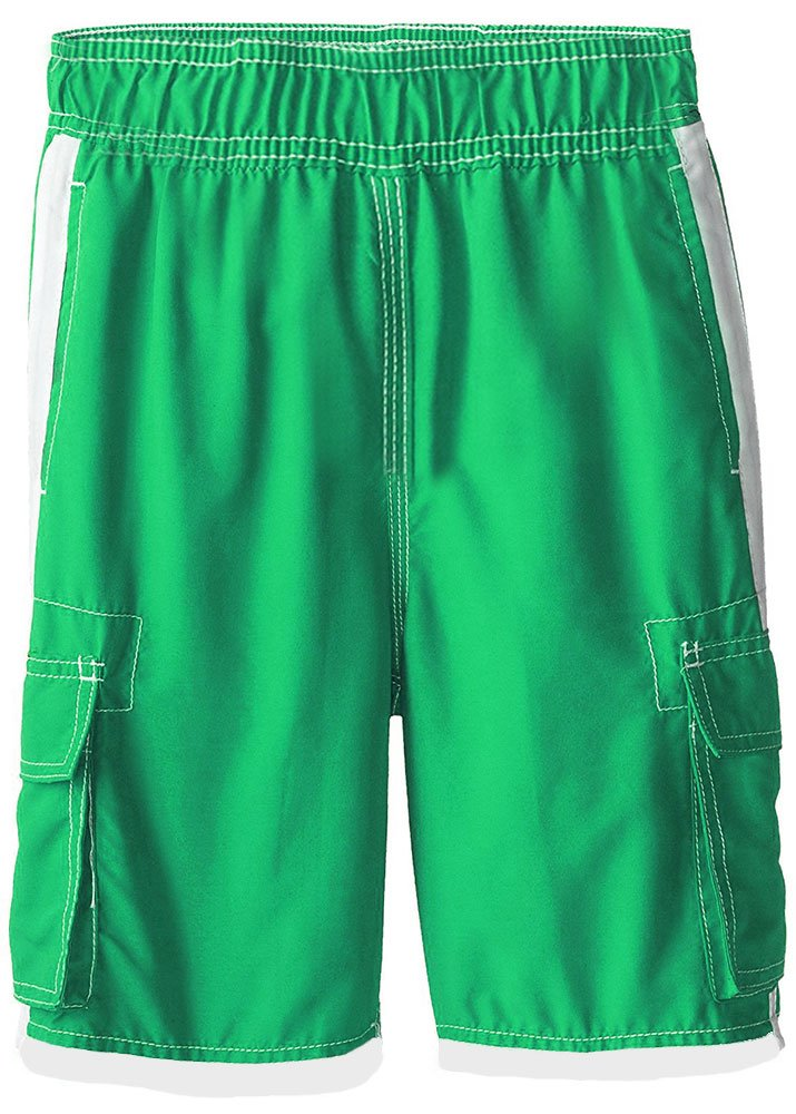 INGEAR Boys Quick Dry Swim Trunks Cargo Water Shorts With Mesh Lining (Green, 12/14) by INGEAR (Image #2)