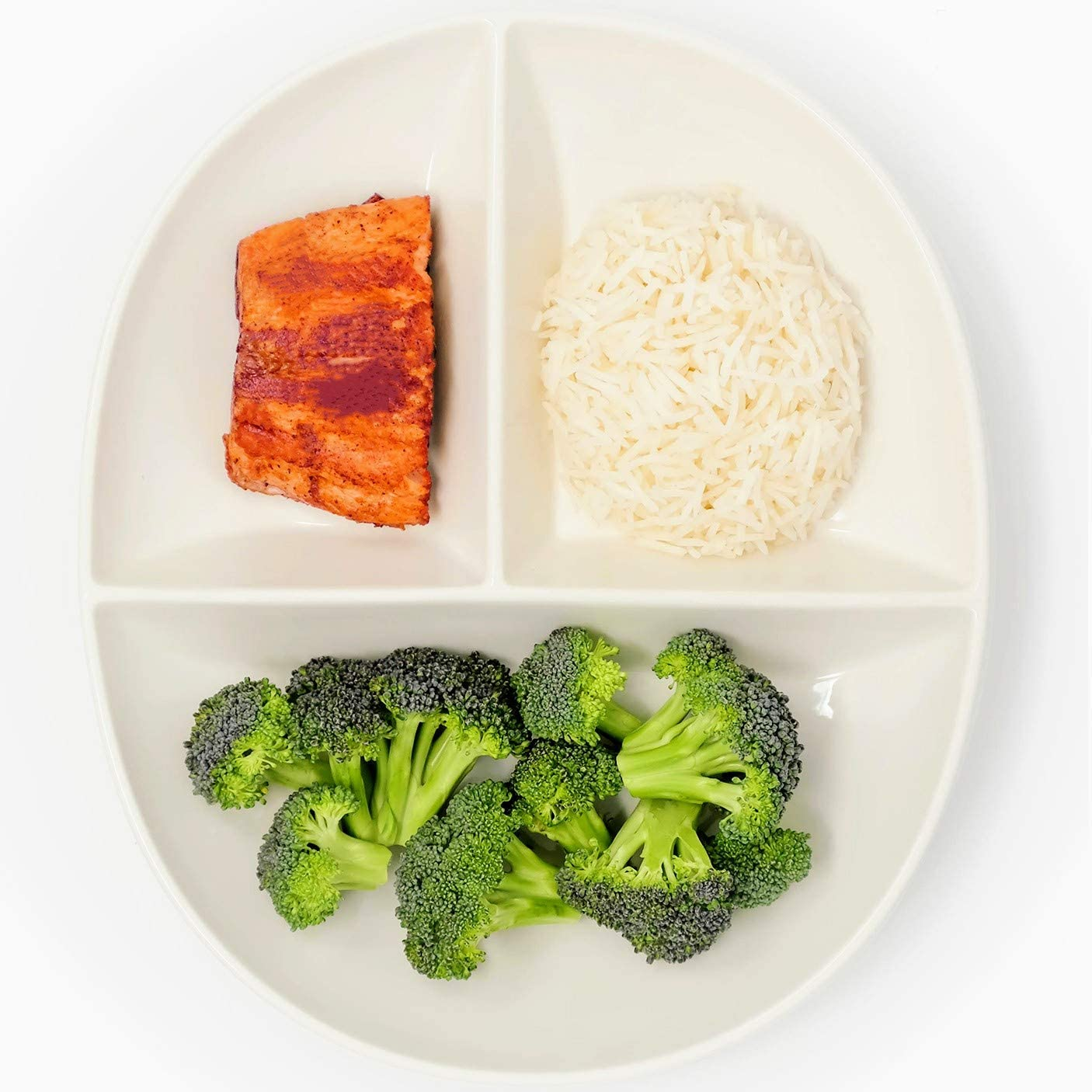 Portion Control Plate for Healthy Eating & Weight Loss  Divided Porcelain  Dinner Plate for Adults & Kids (6)