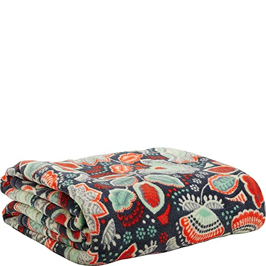Vera Bradley Womens Throw Blanket Nomadic Floral One Size