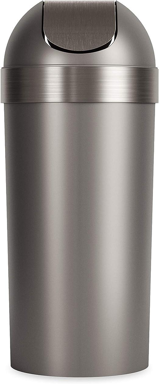 Venti 16-Gallon Swing Top Kitchen Trash Can hassle-free swing-top design Black