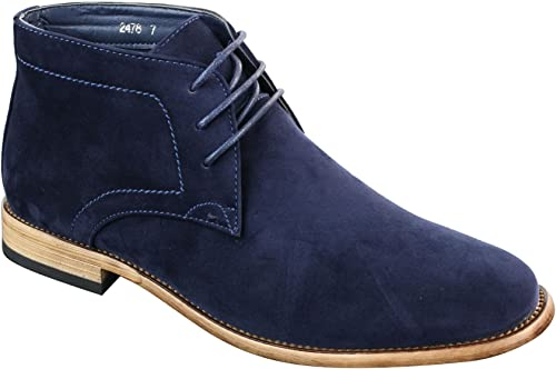 Mens Suede Lace Ankle Chukka Boots