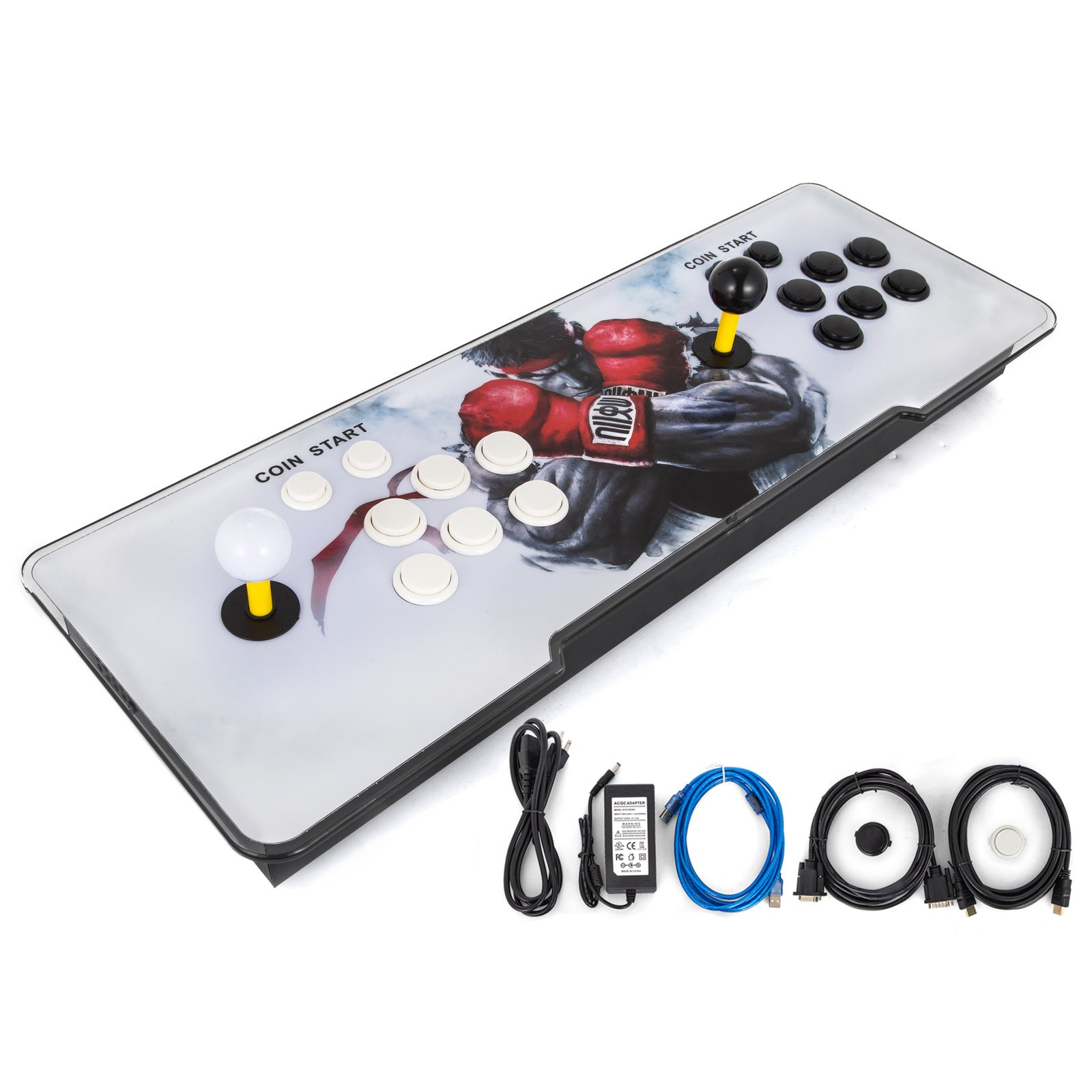 Happybuy Video Game Console, Arcade Machine 1500 Classic Games, 2 Players Pandora's box 5S multiplayer home Arcade Console 1500 Games All in 1 NON-JAMMA PCB Double Stick Newest Design Buttons Power HD by Happybuy (Image #4)