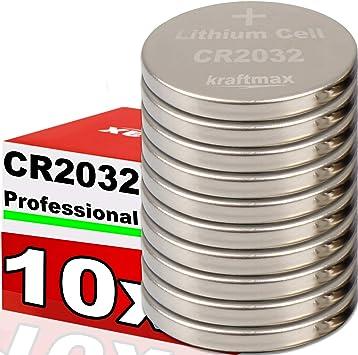 Kraftmax 10er Pack Cr2032 Lithium Hochleistungs Elektronik