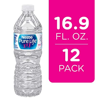 Nestle Pure Life Purified Water, 16.9 Fl Oz. Plastic Bottles (12 Count) by Nestle Pure Life