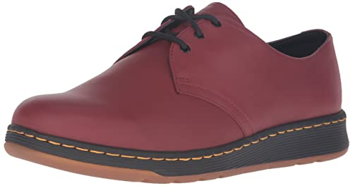 Dr Martens Cherry Rojo Cavendish 3 Eye Zapatos-UK 3 lY5N4UAX