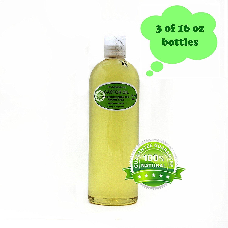 Aceite de ricino Virgen Orgánico Puro prensado en frío por Dr. Adorable 48 oz/3 Pint: Amazon.es: Belleza