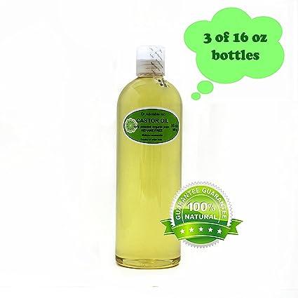 Aceite de ricino Virgen Orgánico Puro prensado en frío por Dr. Adorable 48 oz/