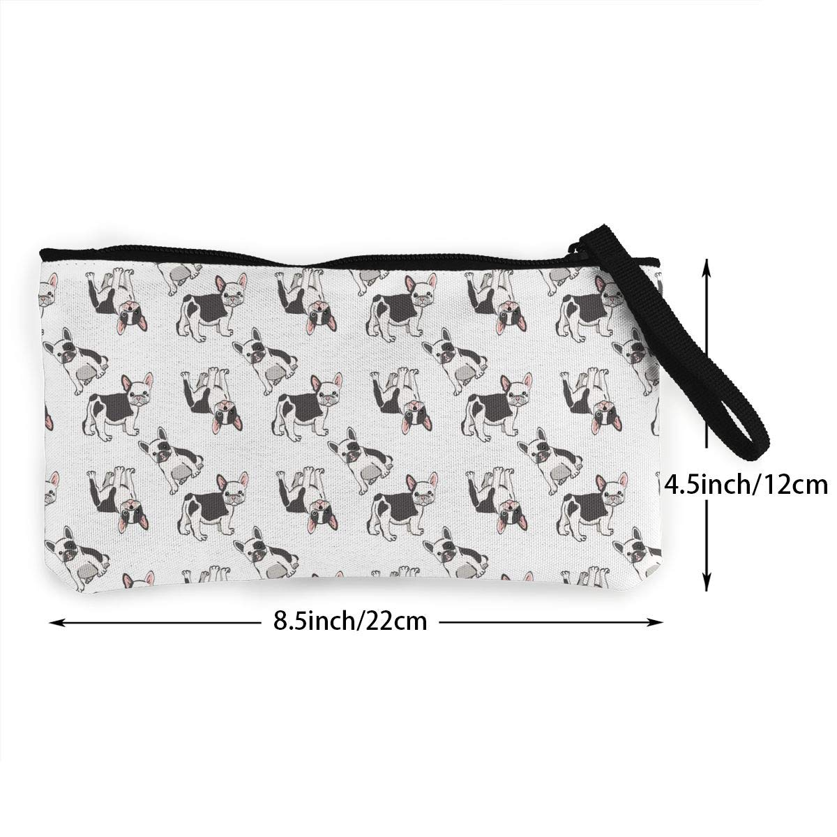French Bulldog Wallet Coin Purse Canvas Zipper Make Up for Party