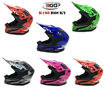 Amazon.es: Nuevo Cascos Niños Niños WULFSPORT K2 Casco de Moto Enduro Casco Motocross Off Road Racing PITBike ATV Quad Scooter M turquesa