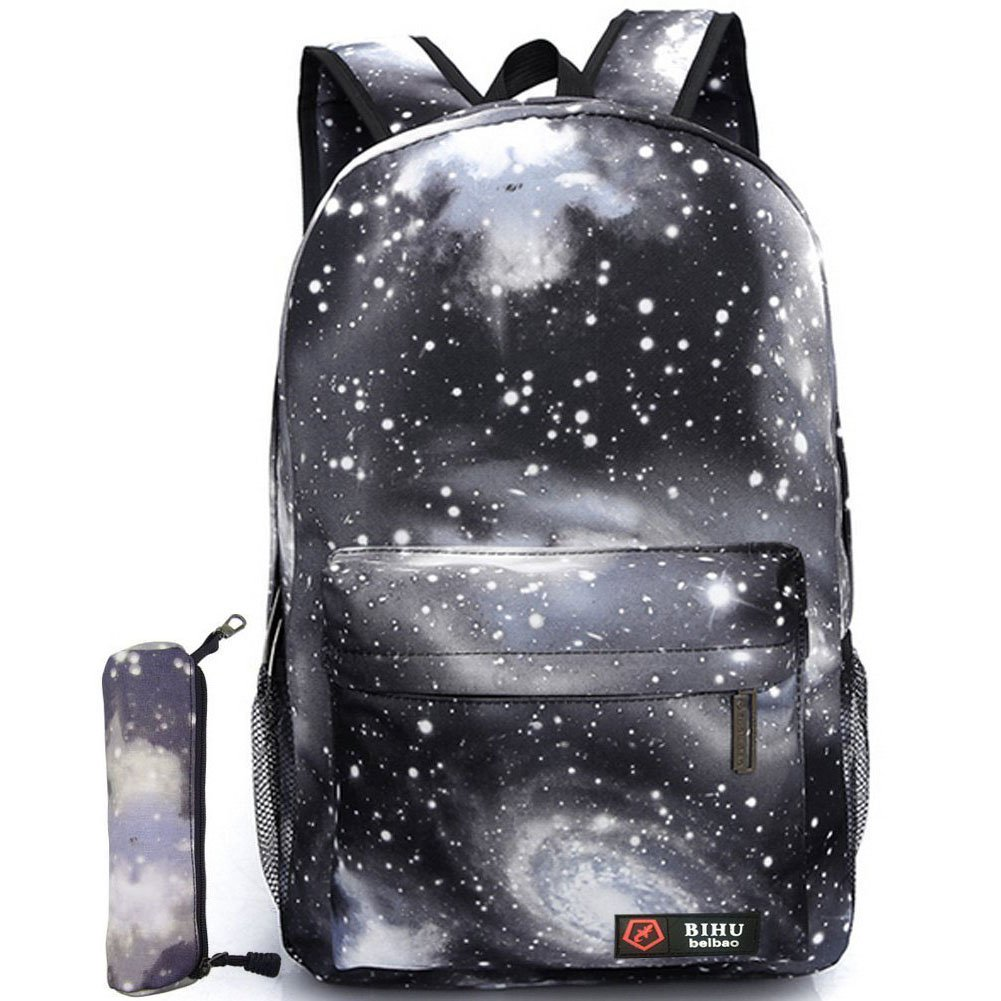Gi-Mall Unisex Galaxy School Backpack Canvas