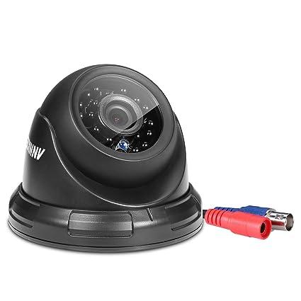 ANNKE 720P Cámara Domo de Vigilancia CCTV IR-CUT IP66 Impermeable Interior/ Exterior Detección