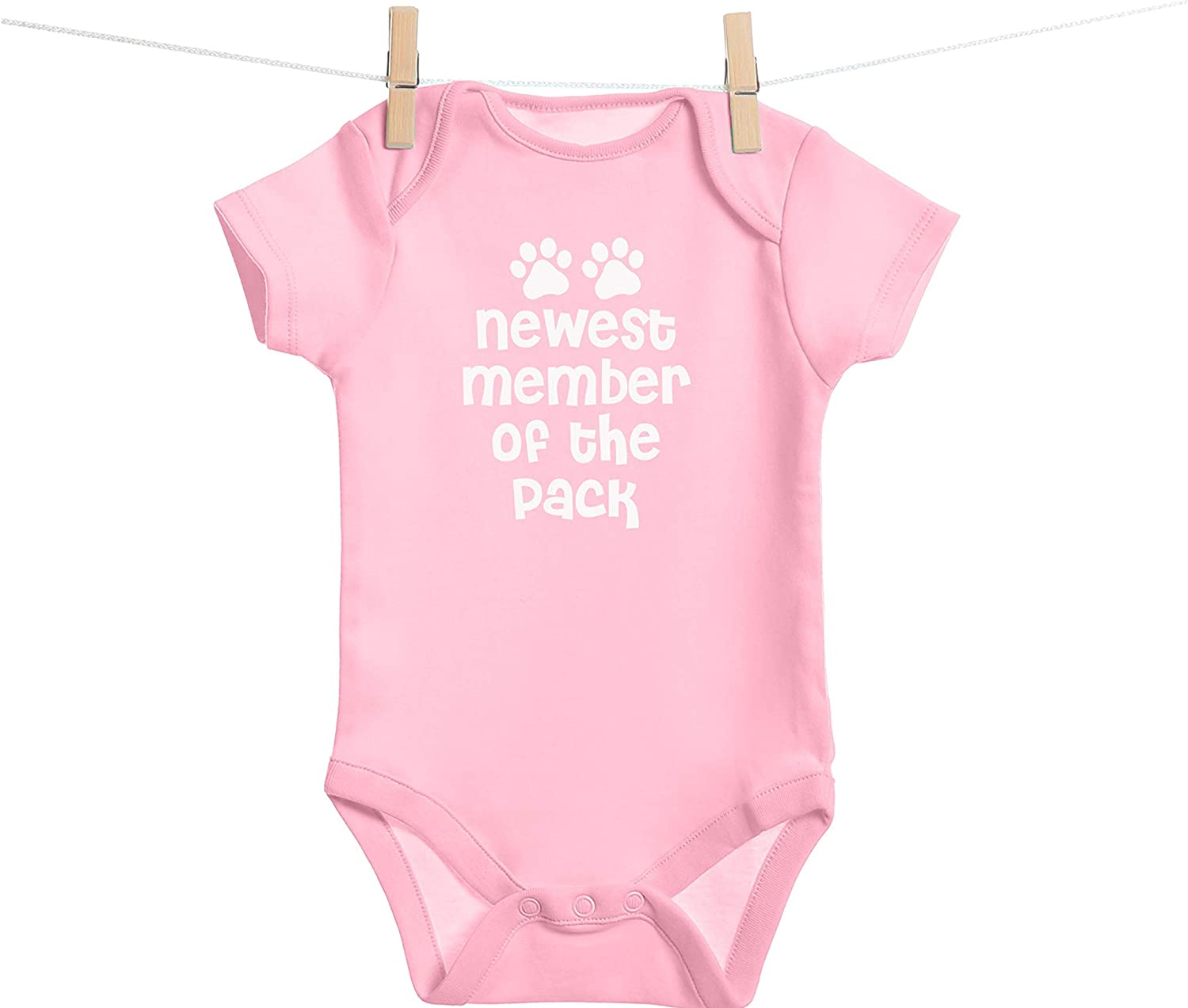 Love for Dog Newest Member of The Pack- Funny Aminal Lovers Cat Unisex Baby Bodysuit