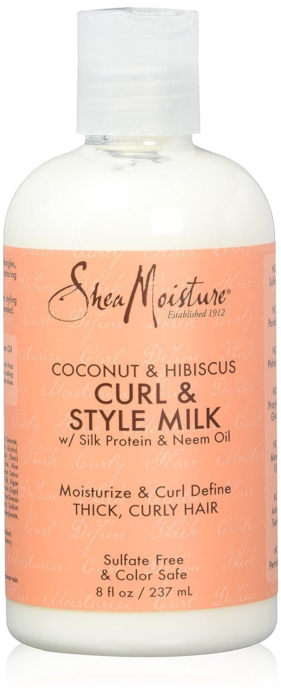 Shea Moisture, Latte nutriente e disciplinante per capelli ricci, profumo: Cocco e Ibisco, 236 ml 290247