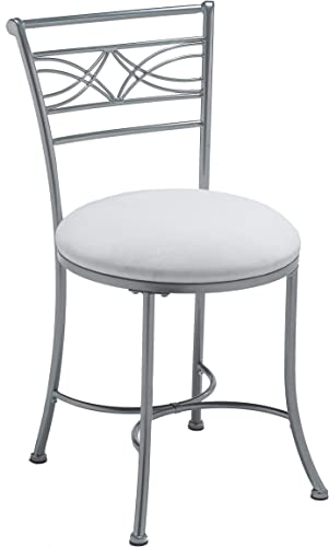 Hillsdale Furniture Dutton Vanity Stool, Chrome