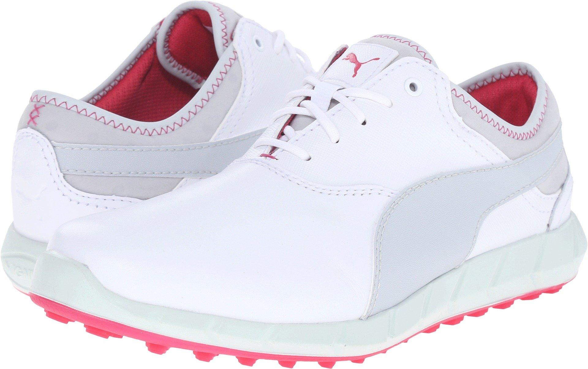 PUMA Golf Women's Ignite Golf White/Glacier Gray/Rose Red Sneaker 5.5 B (M)