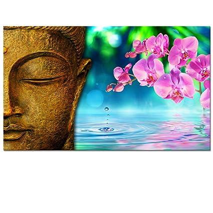 amazon com buddha canvas wall art orchid zen art cavas prints