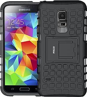 Fetrim Custodia Galaxy S5 mini, cover supporto anti Case, TPU Plastica Bumper Rugged armatura ultra protezione Copertura Cassa Shell Caso per Samsung Galaxy S5 mini - verde