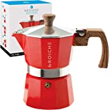 GROSCHE Milano Stovetop Espresso Maker Moka Pot 3 espresso Cup - 5oz, Red - Cuban Coffee Maker Stove top coffee maker…
