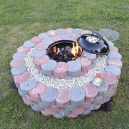 YJZ Molde plástico del jardín DIY, Modelo del pavimento de la trayectoria, Fabricante concreto del ladrillo del Cemento del Stepping Stone los 34 * 34cm: ...