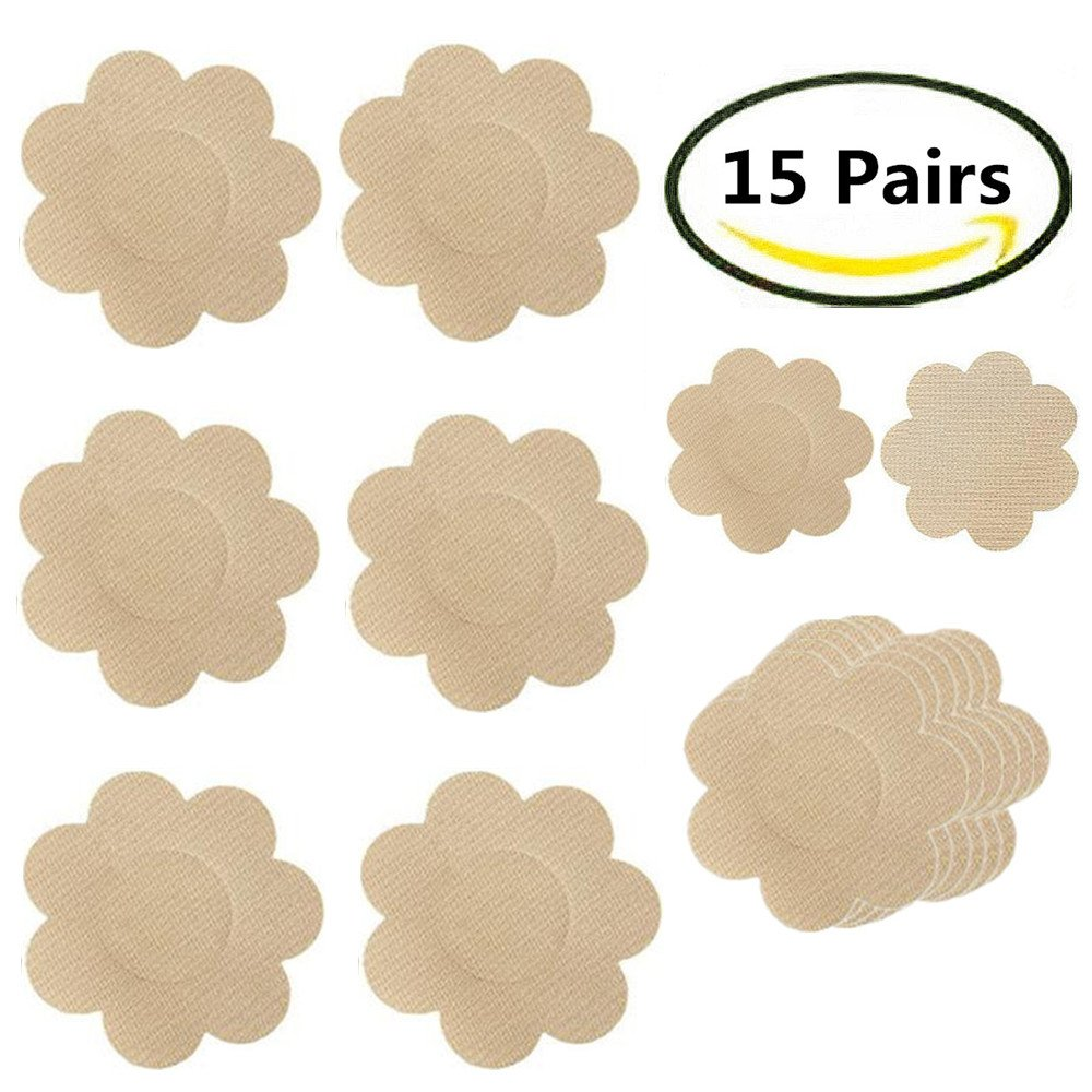 Nipplecovers, Smozer Disposable Breast Pasties Adhesive Bra Petal Tops Nippleless Cover AM-SMNV12-010