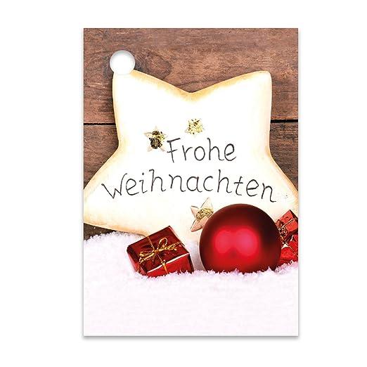 """52 x 74 mm 25er Pack Geschenkanhänger /""""Frohe Weihnachten/"""" Schuhe ca"""