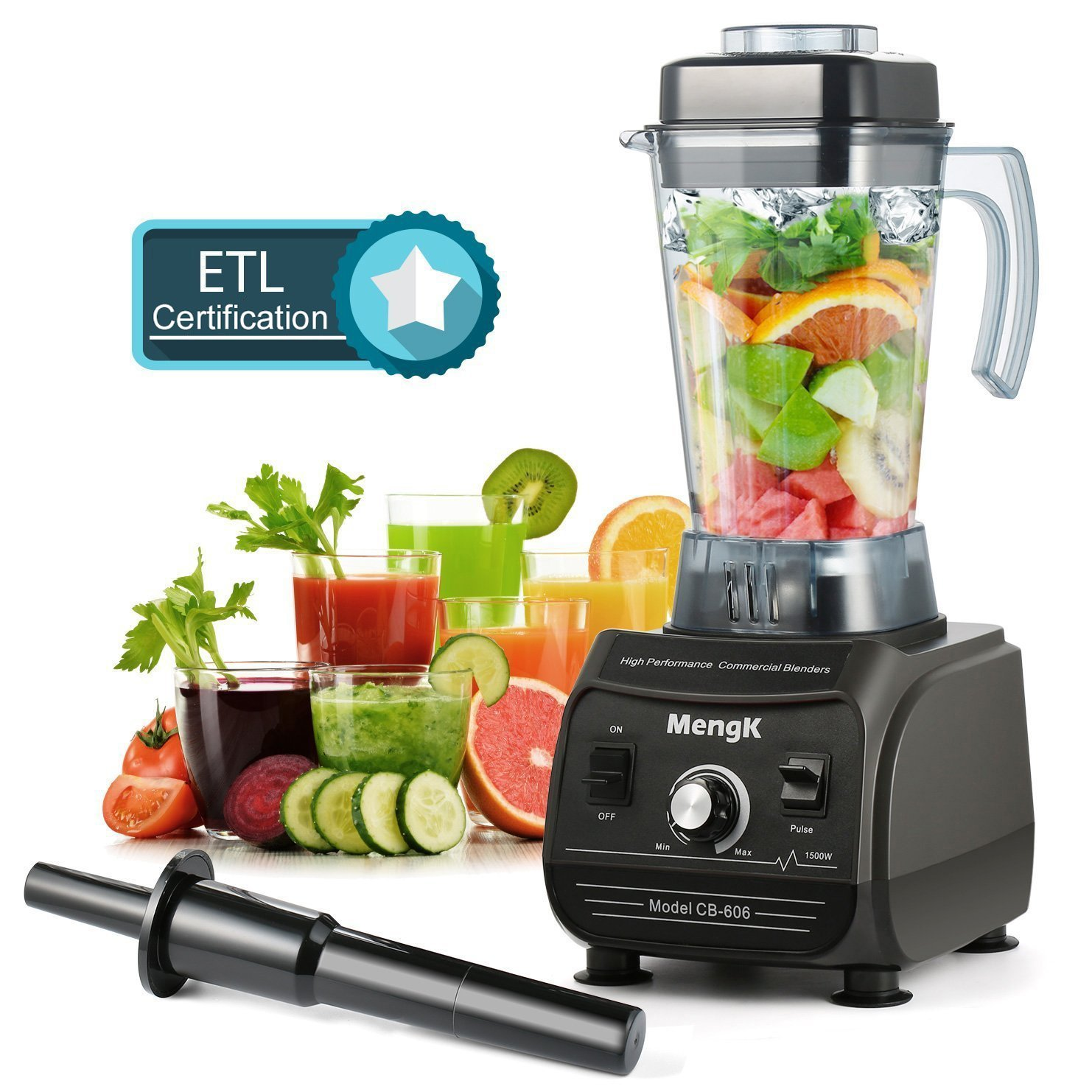 MengK Smoothies Blender 1500W min-2000W max, Professional Commercial Blenders for making Smoothies with 67oz BPA-Free Pitcher, kitchen Nutrition blender and food processor for Ice,Fruits & Vegetables
