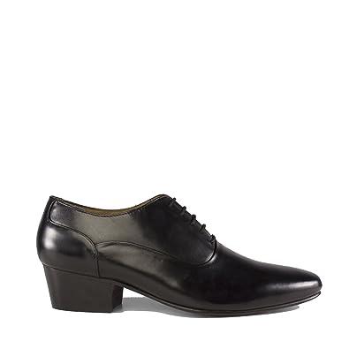 Club Cubano BILBAO Mens Soft Formal Leather Plain Cuban Heel Shoes Dark Brown