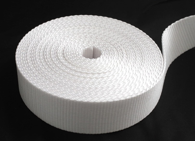 1 1/2 inch White Heavy Nylon Webbing 1 yard ( 1.5