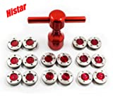 HISTAR 2Pcs Golf Custom red Weights + Red Wrench