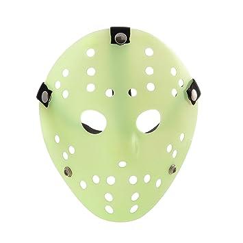 Ultra resplandor en el vestido de fantasía de color oscuro disfraces de hockey de horror máscaras