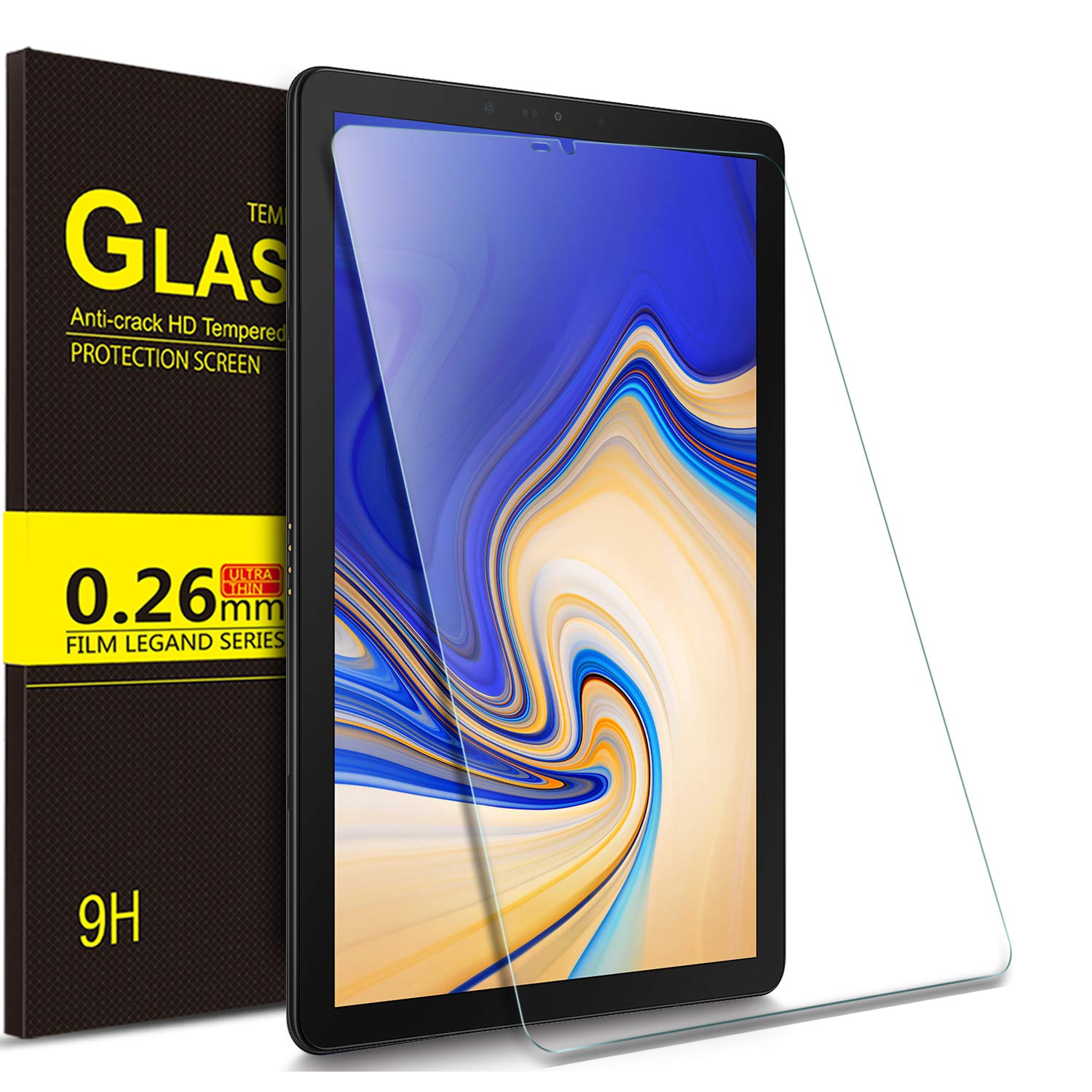 IVSO Samsung Galaxy Tab S4 10.5 Tablet Screen Protector Tempered-Glass HD Clear Scratch Resistant for Samsung Galaxy Tab S4 SM-T830 Wi-Fi & SM-T835 4G LTE 10.5-inch 2018 Release Tablet
