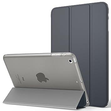 MoKo Funda para iPad Mini 3/2 / 1 - Lightweight Función de Soporte Protectora Plegable Smart Cover Trasera Transparente Durable (Auto Sueño/Estela) - ...
