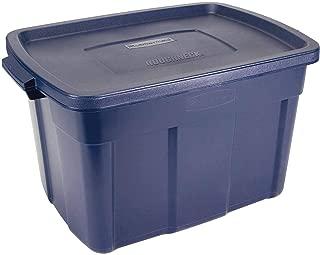 product image for Rubbermaid 25 Gallon Roughneck Storage Container, 25 Gal - 4 Pack, Dark Indigo Metallic