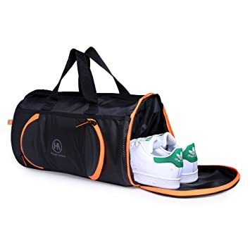 Hyper Adam Polyester 17 Inch Black and Orange Travel Duffle with Shoe  Compartment  Amazon.in  Bags, Wallets   Luggage 13446b5a3e