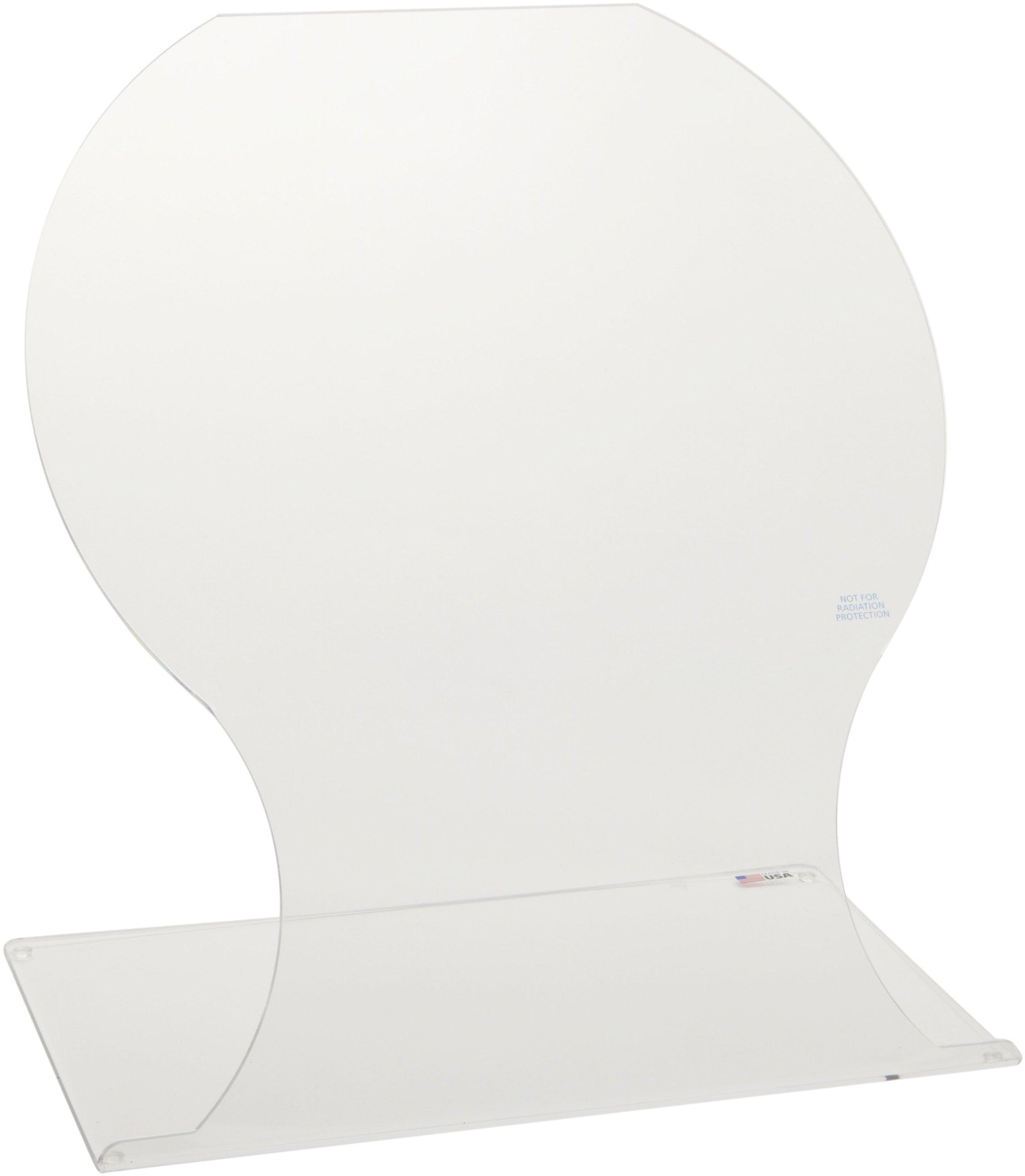 Dynalon 172284 Lab Benchtop Lab Splash Shield, 12'' Length x 20'' Width x 20'' Height
