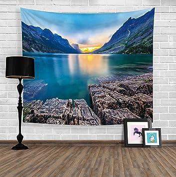 Landschaft Tapisserie Strap Hängenden Tuch Hintergrund Tuch Tischdecke  Dekorative Tuch Tapisserie Wand Tuch , 2 ,