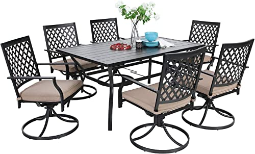 MF Dining Set 7 Pieces Metal Patio Furniture Set