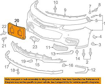 GM 23158734 BRACKET-FRT LIC PLTSERV PRIMER