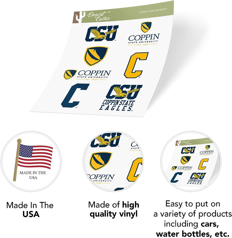 Type 2 Sheet Coppin State University CSU Eagles NCAA Sticker Vinyl Decal Laptop Water Bottle Car Scrapbook