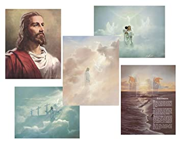 amazon christian art prints wall posters jesus christ and angel